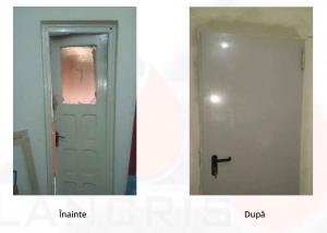 DGASPC: Montaj uşi rezistente la foc